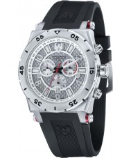 Swiss Eagle SE-9076-01 Men Svitzer Black Custom Moulded Silicon Band Chronograph Watch