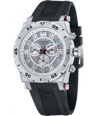 Swiss Eagle SE-9076-01 Men Svitzer Black Custom Moulded Silicon Band Chronograph Watch
