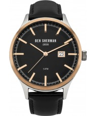 Ben Sherman WB056BB Mens Spitalfields Sport Black Leather Strap Watch