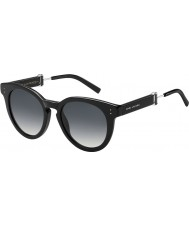 Marc Jacobs Ladies MARC 129-S 807 9O Black Sunglasses