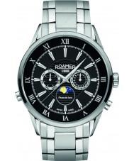 Roamer 508821-41-53-50 Mens Superior Moonphase  Silver Steel Bracelet Watch