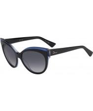 Dior Ladies Dior Glisten 1 E1X HD Black Blue Sunglasses
