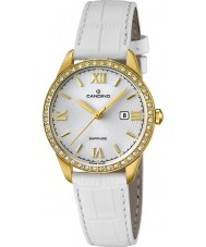 Candino C4529-1 Ladies All White Leather Strap Watch