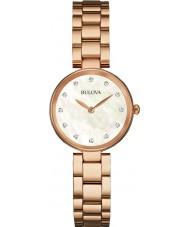 Bulova 97S111 Ladies Diamond Rose Gold Plated Bracelet Watch