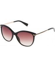 Furla Ladies Stella SU4961-700 Shiny Black Sunglasses