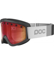 POC PC400421002SML1 Iris Stripes Uranium Black Persimmon Red Mirror Ski Goggles