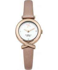 Fiorelli FO009CRG Ladies Rose Gold Plated Nude Leather Strap Watch
