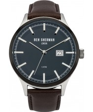 Ben Sherman WB056BR Mens Spitalfields Sport Brown Leather Strap Watch
