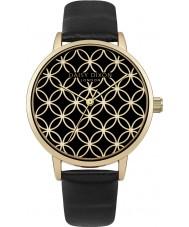 Daisy Dixon DD034BG Ladies Penny Black Leather Strap Watch