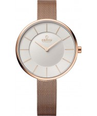 Obaku V185LXVIMV Ladies Rose Gold Plated Mesh Bracelet Watch