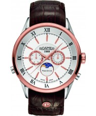 Roamer 508821-49-13-05 Mens Superior Moonphase Brown Leather Strap Watch