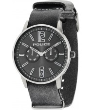 Police 14766JSU-61 Mens Esquire X Grey Leather Strap Watch