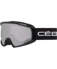 Cebe CBG98 Fanatic M Black - Light Rose Flash Mirror Ski Goggles
