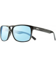Revo RE1019 Holsby Black Woodgrain - Blue Water Polarized Sunglasses