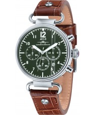 AVI-8 AV-4014-03 Mens Hawker Hurricane Brown Leather Strap Chronograph Watch