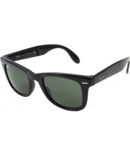 RayBan RB4105 50 Folding Wayfarer Black 601 Sunglasses
