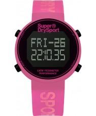 Superdry SYL203P Ladies Digi Pedometer Pink Silicone Strap Watch