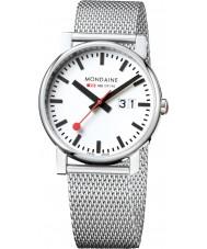 Mondaine A627-30303-11SBM Evo Big Silver Steel Mesh Bracelet Watch