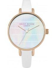 Daisy Dixon DD024WRG Ladies Kylie White Leather Strap Watch