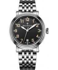Dreyfuss and Co DGB00152-19 Mens 1924 Silver Steel Bracelet Watch