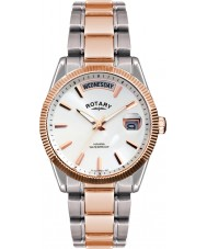 Rotary GB02662-06 Mens Timepieces Havana Silver Rose Gold Watch