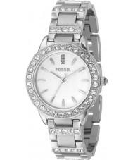 Fossil ES2362 Ladies Silver Stone Set Watch
