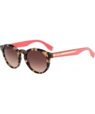 Fendi Colour Block FF 0085-S HK3 D8 Havana Pink Sunglasses