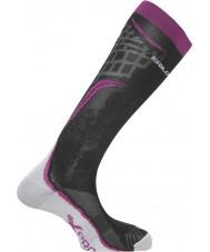 Salomon 355940-BERBLA-S X Pro Wild Berry and Black Socks - Size S (UK 3.5-5)