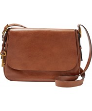 Fossil ZB6760200 Ladies Harper Large Brown Cross Body Bag