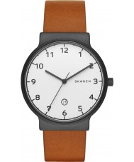Skagen SKW6297 Mens Ancher Light Brown Leather Strap Watch