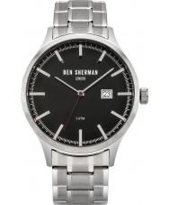 Ben Sherman WB056BSM Mens Spitalfields Sport Silver Steel Bracelet Watch