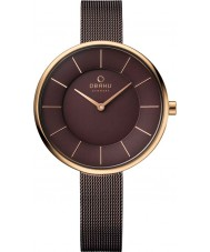 Obaku V185LXVNMN Ladies Brown Steel Mesh Bracelet Watch