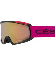 Cebe CBG99 Fanatic M Black and Pink - Light Rose Flash Gold Ski Goggles