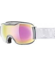 Uvex 5504375026 Downhill 2000 Small LM Matte Coal - Pink Mirror Ski Goggles