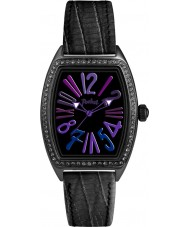 Pocket PK2040 Ladies Tonneau Crystal Medio All Black Watch