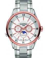 Roamer 508821-49-13-50 Mens Superior Moonphase  Silver Steel Bracelet Watch