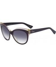 Dior Ladies Dior Glisten 1 ELU DG Dark Purple Sunglasses