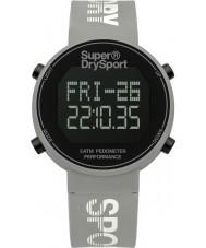 Superdry SYL203E Ladies Digi Pedometer Grey Silicone Strap Watch