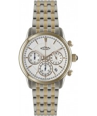 Rotary GB02877-06 Mens Timepieces Monaco Two Tone Steel Chronograph Watch