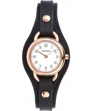 Coach 14502030 Ladies Dree Black Leather Strap Watch