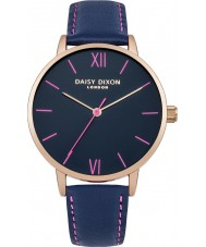Daisy Dixon DD029URG Ladies Annie Navy Leather Strap Watch
