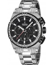 Festina F16968-4 Mens Chrono Bike Silver Steel Chronograph Watch