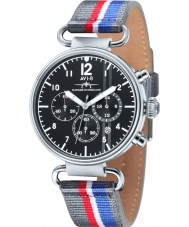AVI-8 AV-4014-04 Mens Hawker Hurricane Multicolored Leather Strap Chronograph Watch