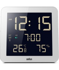 Braun BNC014WH-RC Global Radio Controlled Wall Clock - White