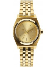 Nixon A399-502 Ladies Small Time Teller All Gold Watch