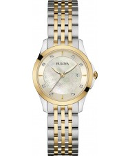 Bulova 98S148 Ladies Diamond Two Tone Steel Bracelet Watch