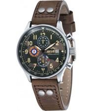 AVI-8 AV-4011-09 Mens Hawker Hurricane Brown Leather Strap Chronograph Watch