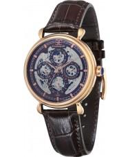 Thomas Earnshaw ES-8043-05 Mens Grand Calendar Brown Leather Strap Watch
