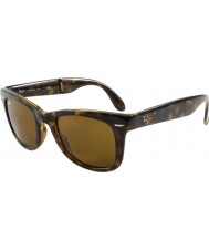 RayBan RB4105 50 Folding Wayfarer Light Tortoiseshell 710 Sunglasses
