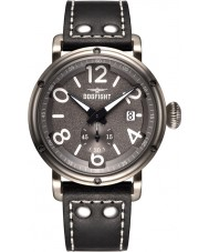 Dogfight DF0018 Mens Ace Black Leather Strap Watch